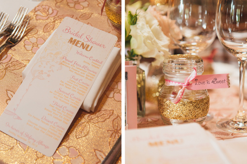 Pink and Gold Glitter Bridal Shower | The Majestic Vision Wedding Planning | Cafe Chardonnay in Palm Beach, FL | www.themajesticvision.com | Robert Madrid Photography