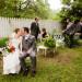 Romantic Garden Wedding Party Portrait at Ann Norton Sculpture Garden in Palm Beach, FL thumbnail