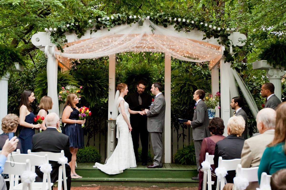 Romantic Garden Wedding Ceremony | The Majestic Vision Wedding Planning | Ann Norton Sculpture Garden in Palm Beach, FL | www.themajesticvision.com | Dove Wedding Photography