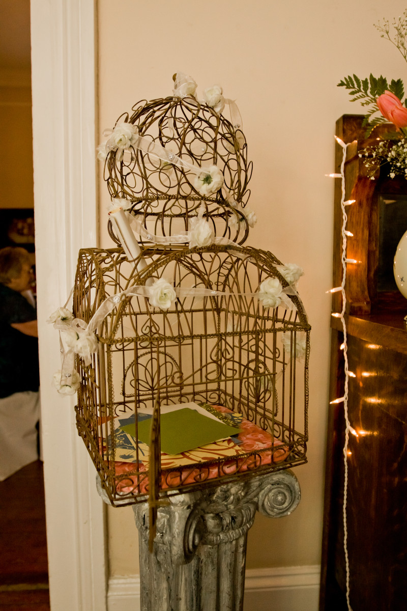 Romantic Birdcage Card Box | The Majestic Vision Wedding Planning | Ann Norton Sculpture Garden in Palm Beach, FL | www.themajesticvision.com | Dove Wedding Photography