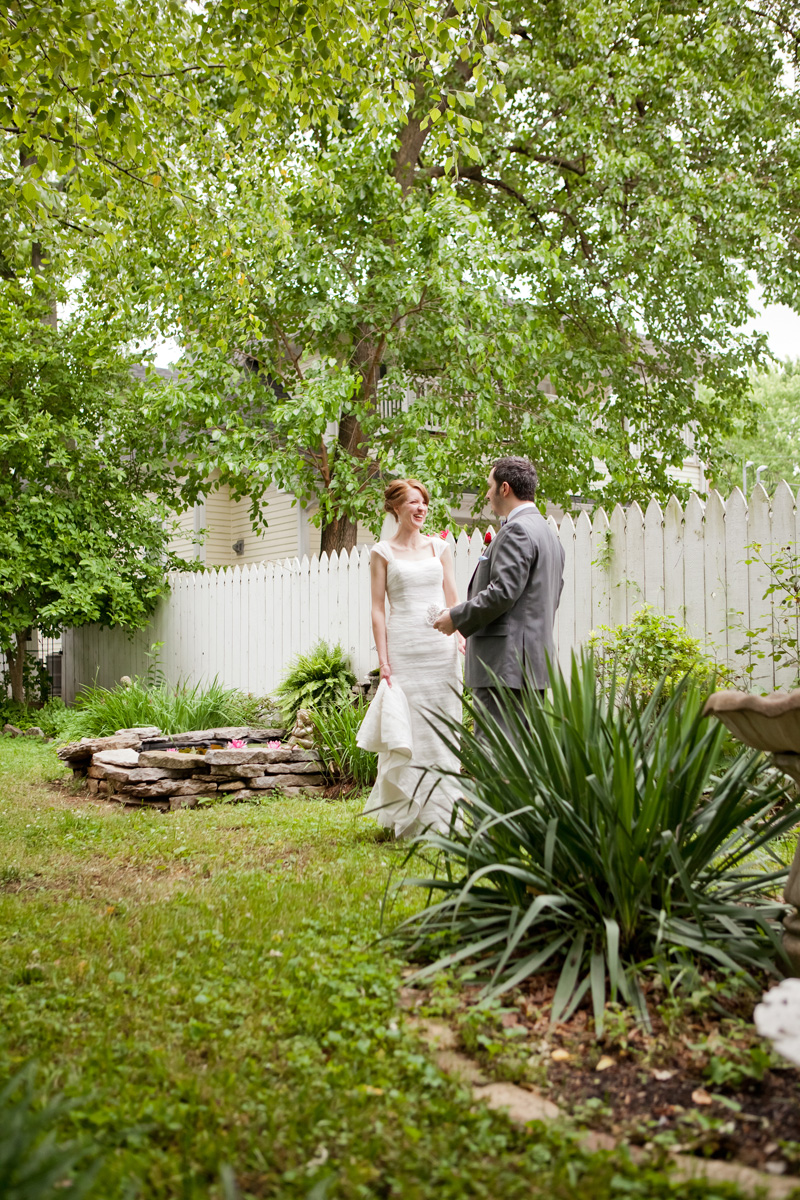 Romantic Garden First Look Portrait | The Majestic Vision Wedding Planning | Ann Norton Sculpture Garden in Palm Beach, FL | www.themajesticvision.com | Dove Wedding Photography