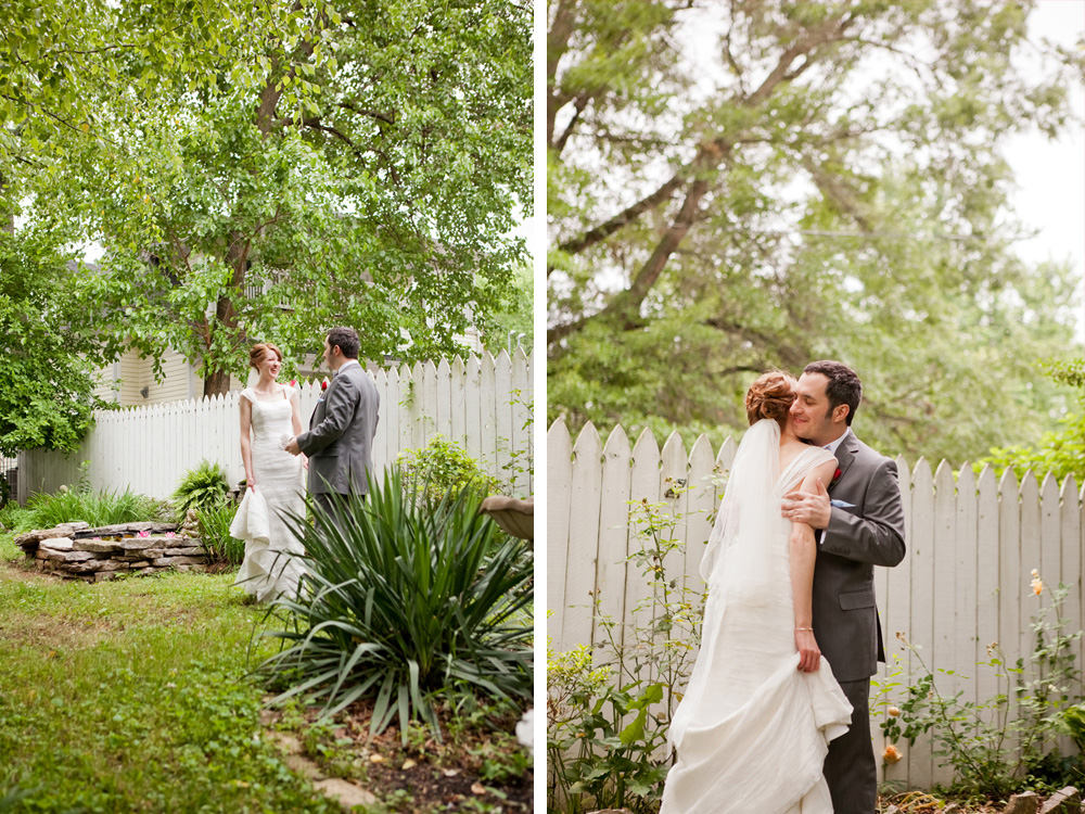 Romantic Garden First Look Portrait | The Majestic Vision Wedding Planning | Ann Norton Sculpture Garden in Palm Beach, FL | www.themajesticvision.com | Dove Wedding Photography