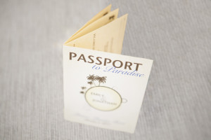 Elegant Passport Wedding Invitation | The Majestic Vision Wedding Planning | Villas Mar Azure in Ponce, PR | www.themajesticvision.com | Shay Cochrane Photography