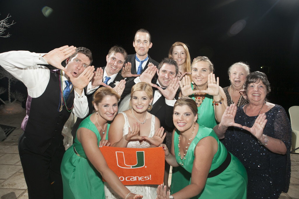 University of Miami Alumni Represent | The Majestic Vision Wedding Planning | Villas Mar Azure in Ponce, PR | www.themajesticvision.com | Shay Cochrane Photography