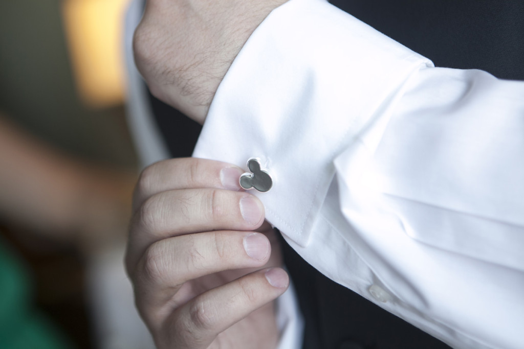 Fun Mickey Mouse Cufflinks | The Majestic Vision Wedding Planning | Villas Mar Azure in Ponce, PR | www.themajesticvision.com | Shay Cochrane Photography