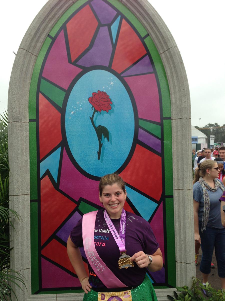 Disney's Princess Half Marathon 2013 Medal | The Majestic Vision Wedding Planning | Walt Disney World Resort in Orlando, FL | www.themajesticvision.com