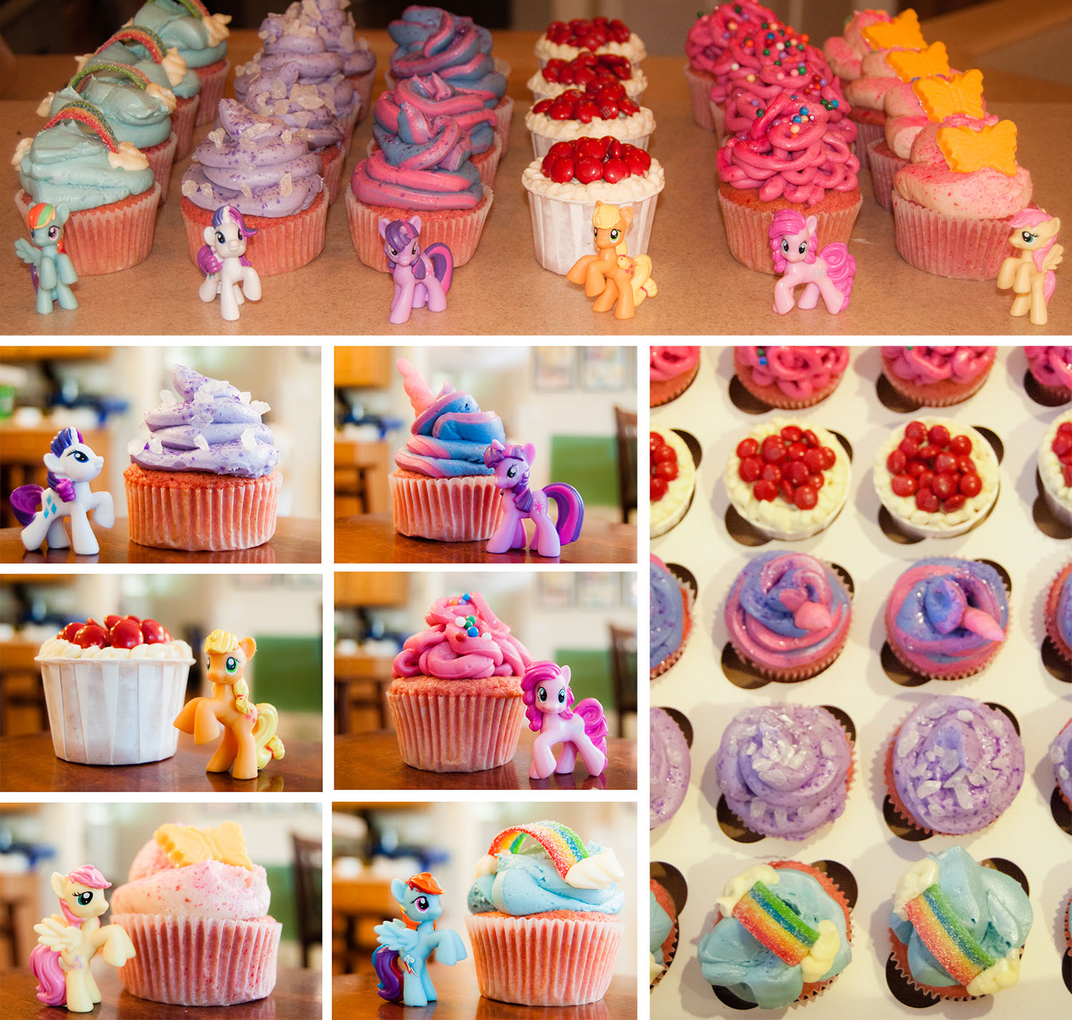 My Little Pony Cupcakes | The Majestic Vision Wedding Planning | Birthday Party in Palm Beach, FL | www.themajesticvision.com
