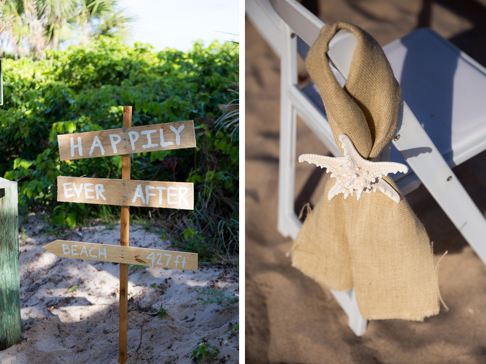 Starfish and Burlap Beach Ceremony Decor | The Majestic Vision Wedding Planning | Palm Beach Shores Community Center in Palm Beach, FL | www.themajesticvision.com | Chris Kruger Photography