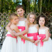 Simple White and Coral Flower Girl Dresses at Palm Beach Shores Community Center in Palm Beach, FL thumbnail