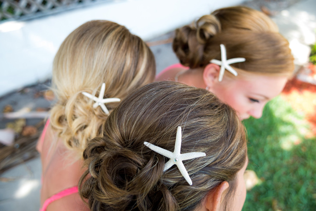 Elegant Starfish Hairpieces | The Majestic Vision Wedding Planning | Palm Beach Shores Community Center in Palm Beach, FL | www.themajesticvision.com | Chris Kruger Photography