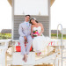 Laid-back Bridal Portrait on Lifeguard Stand at Palm Beach Shores Community Center in Palm Beach, FL thumbnail