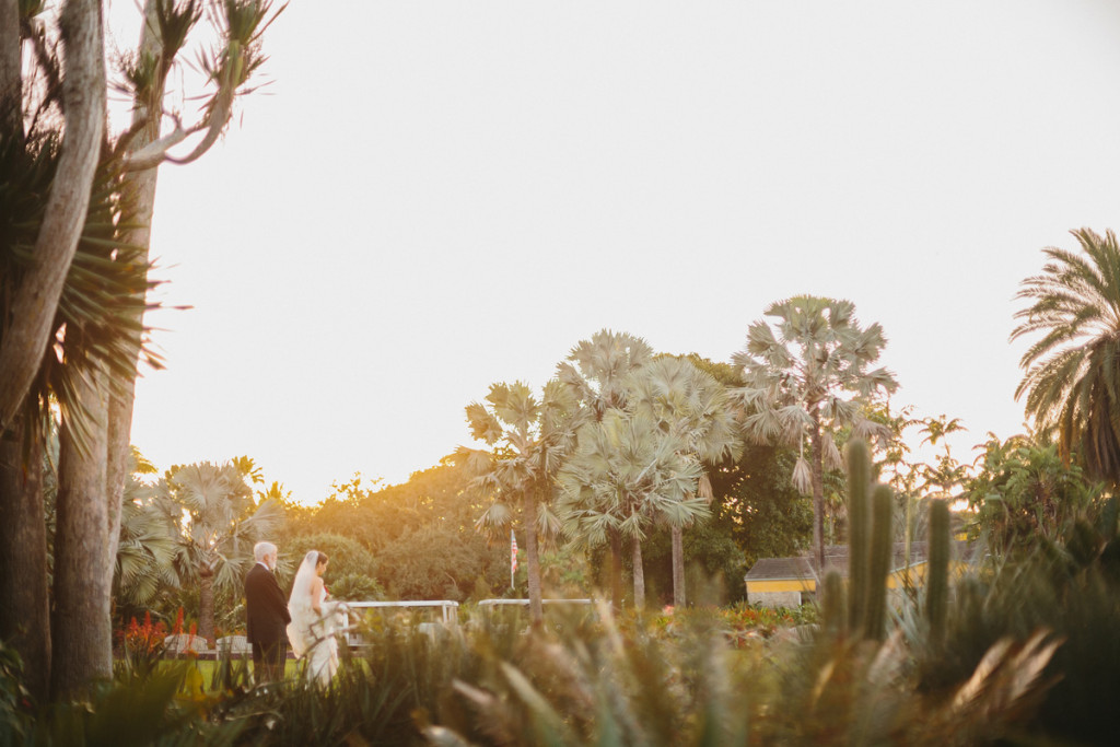 Elegant Wedding Ceremony in the Bailey Palm Glade | The Majestic Vision Wedding Planning | Fairchild Tropical Garden in Coral Gables, FL | www.themajesticvision.com | Robert Madrid Photography