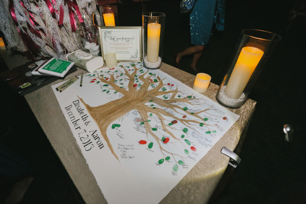 Elegant Handpainted Thumbprint Tree Guest Book | The Majestic Vision Wedding Planning | Fairchild Tropical Garden in Coral Gables, FL | www.themajesticvision.com | Robert Madrid Photography