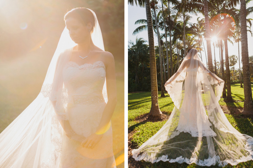 Stunning Cathedral Length Bridal Veil | The Majestic Vision Wedding Planning | Fairchild Tropical Garden in Coral Gables, FL | www.themajesticvision.com | Robert Madrid Photography
