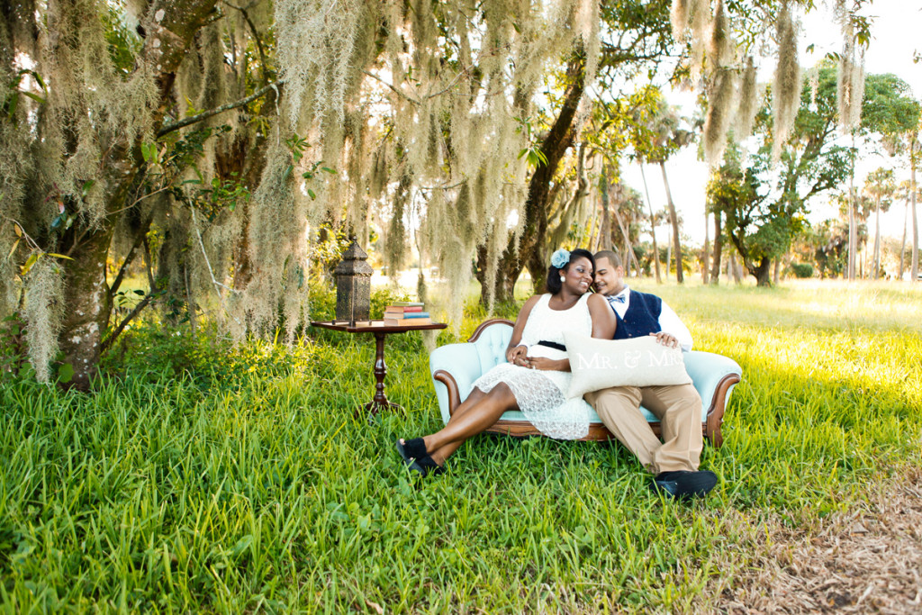Romantic Vintage Engagement Session | The Majestic Vision Wedding Planning | Riverbend Park in Palm Beach, FL | www.themajesticvision.com | Krystal Zaskey Photography