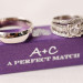 Stunning Wedding Rings on Personalized Purple Match Box at The Addison Boca in Palm Beach, FL thumbnail