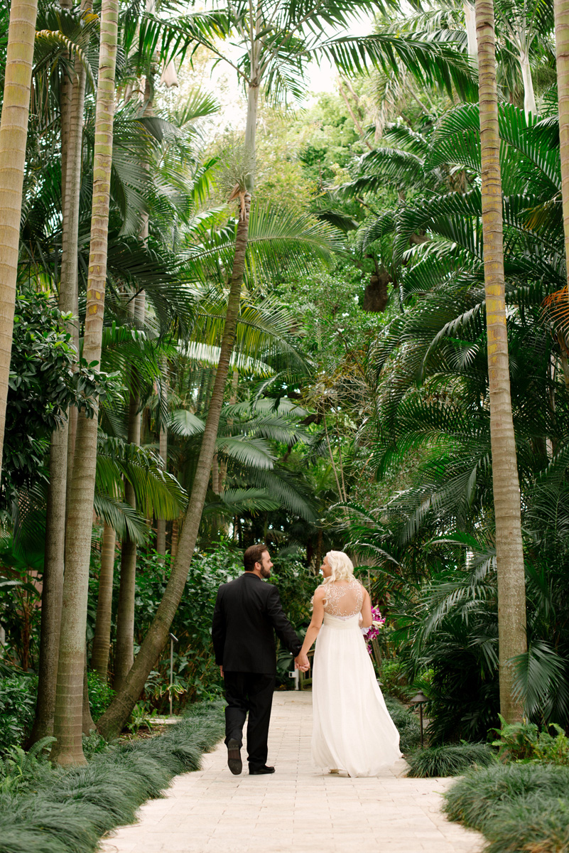 Breathtaking Bridal Portrait Among Palm Trees | The Majestic Vision Wedding Planning | The Addison Boca in Palm Beach, FL | www.themajesticvision.com | Starfish Studios