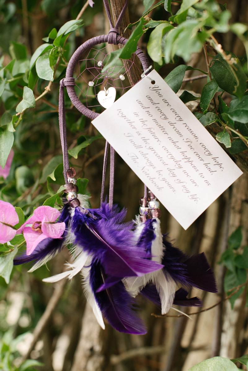 Unique Dreamcatcher Guest Favor | The Majestic Vision Wedding Planning | The Addison Boca in Palm Beach, FL | www.themajesticvision.com | Starfish Studios