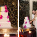 Elegant Silver and Purple Wedding Cake at The Addison Boca in Palm Beach, FL thumbnail