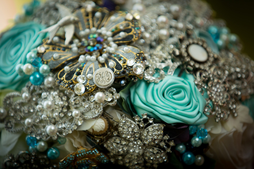 Stunning Brooch Bouquet | The Majestic Vision Wedding Planning | Hilton Singer Island in Palm Beach, FL | www.themajesticvision.com | Michael Sterling Photography