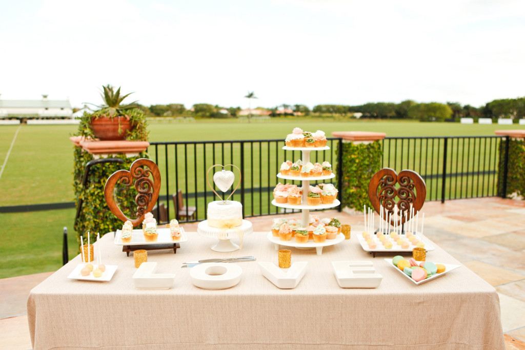 Elegant Dessert Display on the Polo Fields | The Majestic Vision Wedding Planning | International Polo Club in Palm Beach, FL | www.themajesticvision.com | Krystal Zaskey Photography