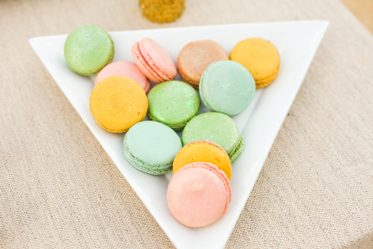 Delicious Yellow, Orange and Pink Macaroons | The Majestic Vision Wedding Planning | International Polo Club in Palm Beach, FL | www.themajesticvision.com | Krystal Zaskey Photography