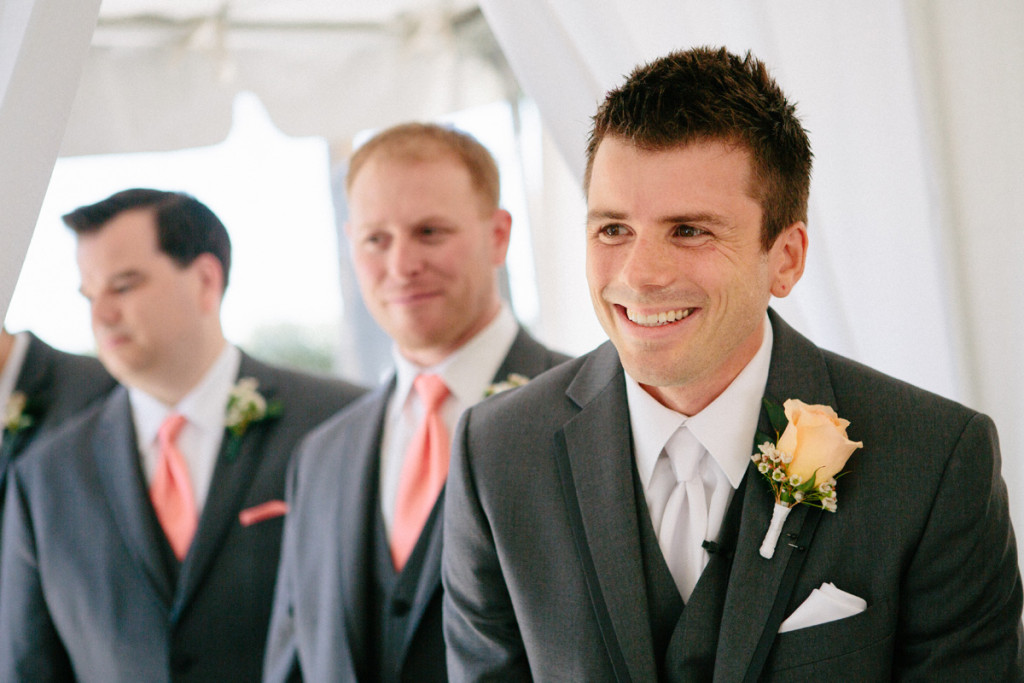 Excited Groom at Wedding Ceremony | The Majestic Vision Wedding Planning | Marriott Singer Island in Palm Beach, FL | www.themajesticvision.com | Robert Madrid Photography
