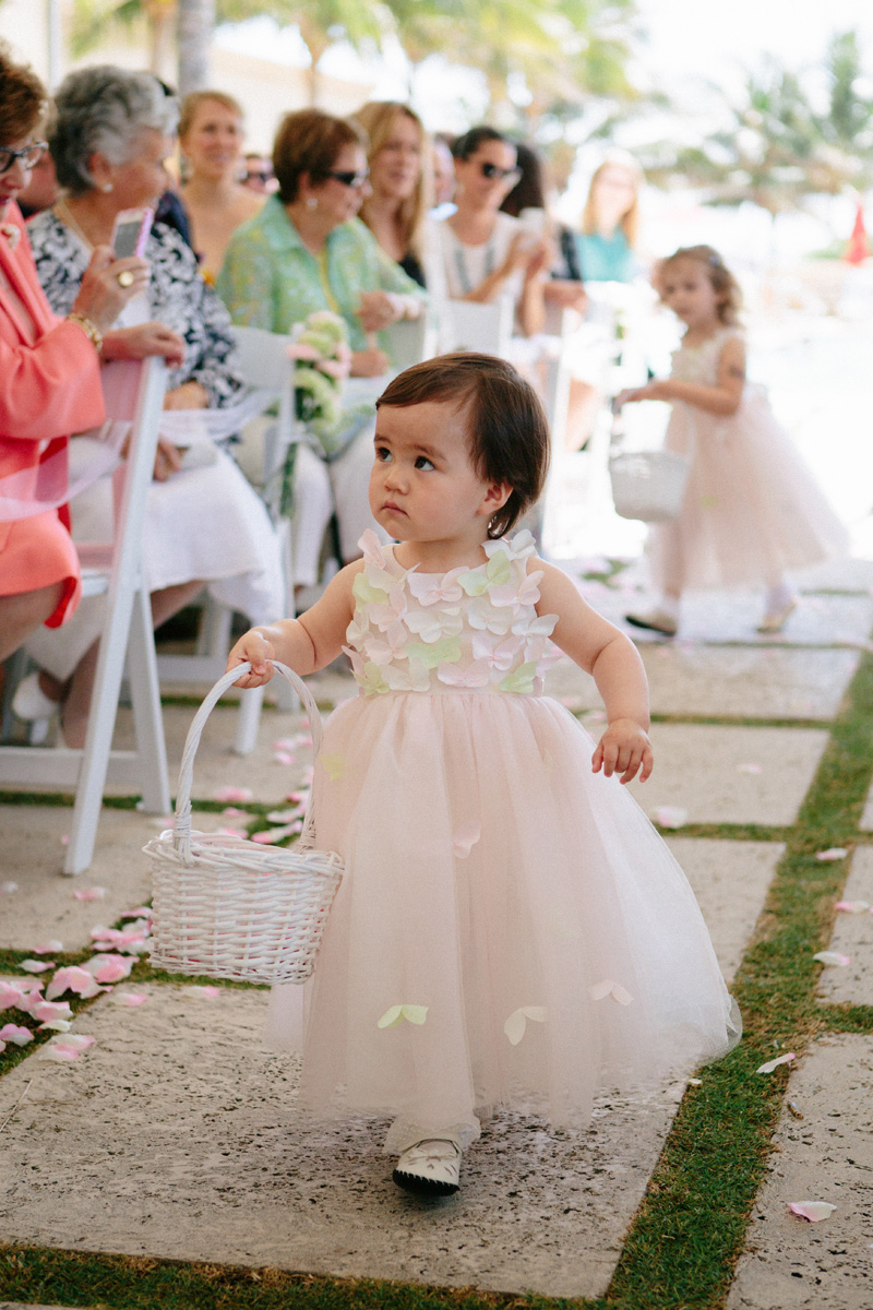 Adorable Flower Girl | The Majestic Vision Wedding Planning | Marriott Singer Island in Palm Beach, FL | www.themajesticvision.com | Robert Madrid Photography