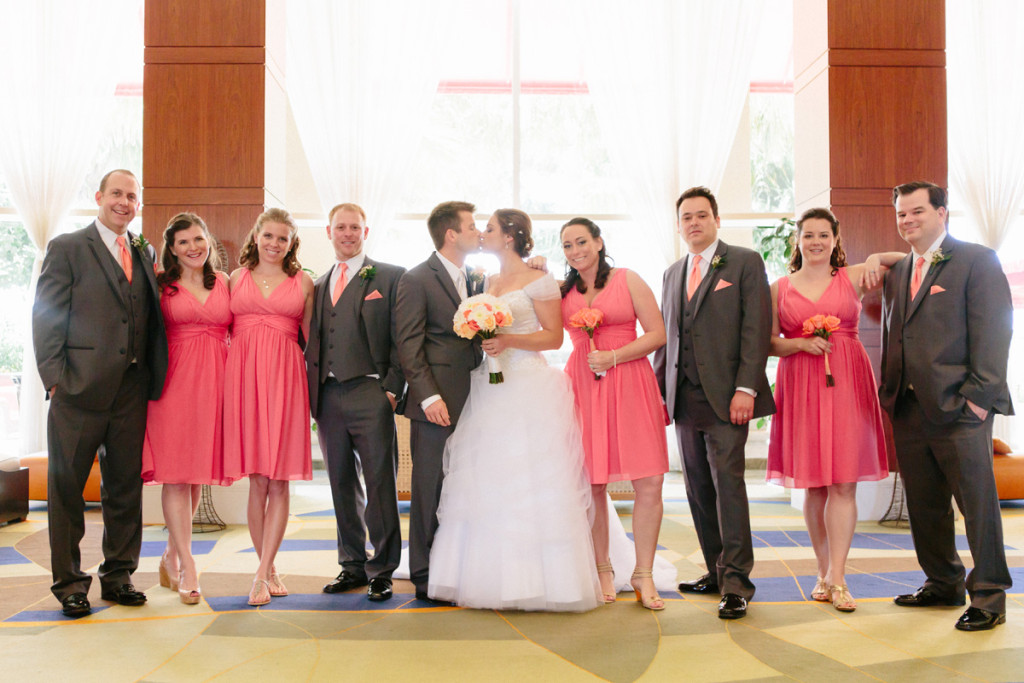 Elegant Bridal Party in Coral and Gray | The Majestic Vision Wedding Planning | Marriott Singer Island in Palm Beach, FL | www.themajesticvision.com | Robert Madrid Photography