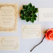Elegant Letterpress Wedding Invitation Suite at Marriott Singer Island in Palm Beach, FL thumbnail
