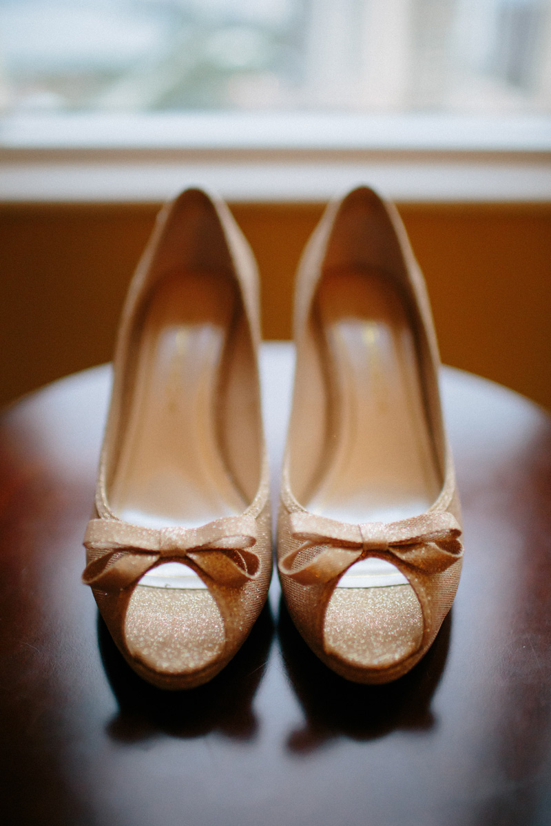 Fun Gold Glitter Wedding Shoes | The Majestic Vision Wedding Planning | Marriott Singer Island in Palm Beach, FL | www.themajesticvision.com | Robert Madrid Photography