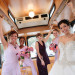 Elegant Bridal Party in Trolley at Sailfish Marina in Palm Beach, FL thumbnail