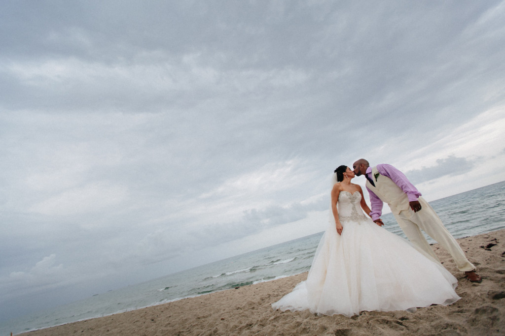 Elegant Bridal Portrait on the Beach   The Majestic Vision Wedding Planning   Sailfish Marina in Palm Beach, FL   www.themajesticvision.com   Robert Madrid Photography