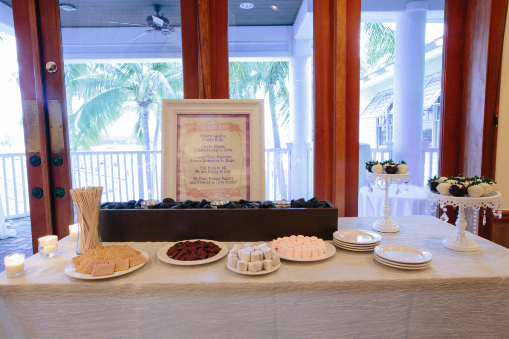 Elegant Smores Bar | The Majestic Vision Wedding Planning | Sailfish Marina in Palm Beach, FL | www.themajesticvision.com | Robert Madrid Photography