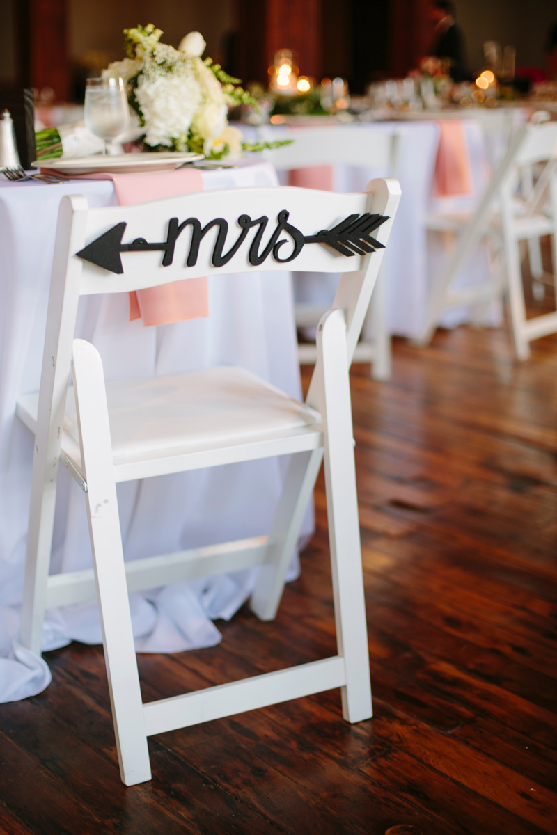 Elegant Bride Chair Sign | The Majestic Vision Wedding Planning | Pritzlaff Building in Milwaukee, WI | www.themajesticvision.com | Lisa Mathewson Photography