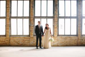Elegant Bridal Portrait with Brick Background | The Majestic Vision Wedding Planning | Pritzlaff Building in Milwaukee, WI | www.themajesticvision.com | Lisa Mathewson Photography