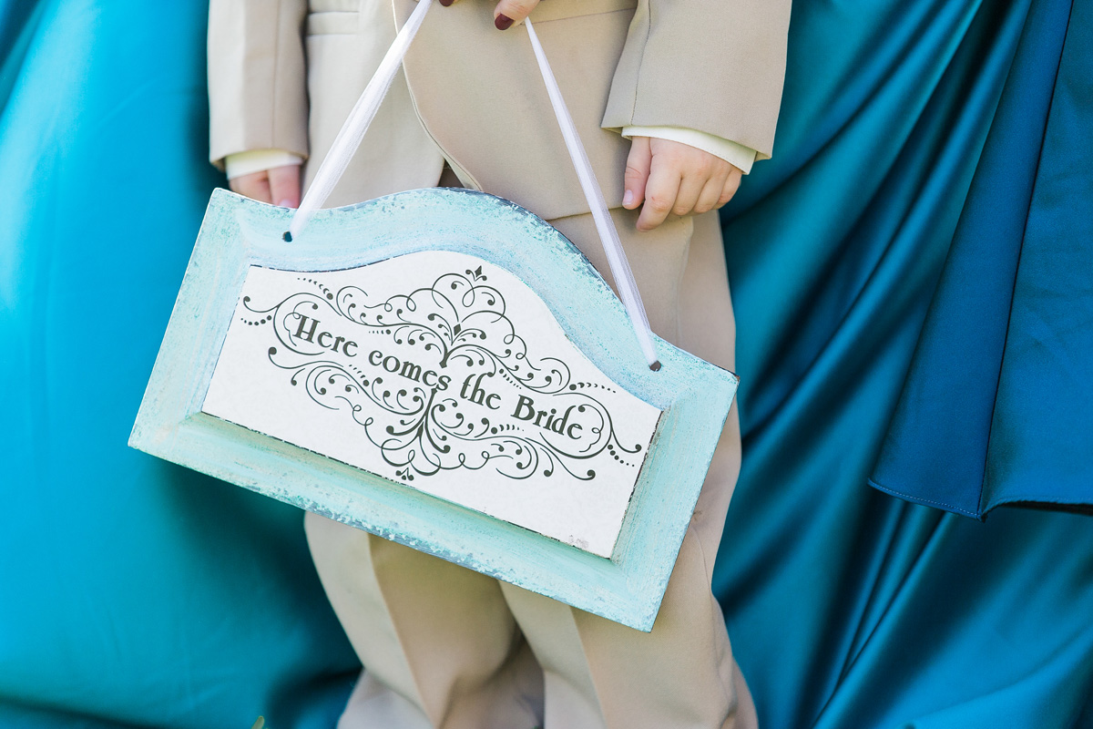 Adorable Ring Bearer Sign | The Majestic Vision Wedding Planning | Sailfish Marina in Palm Beach, FL | www.themajesticvision.com | Chris Kruger Photography