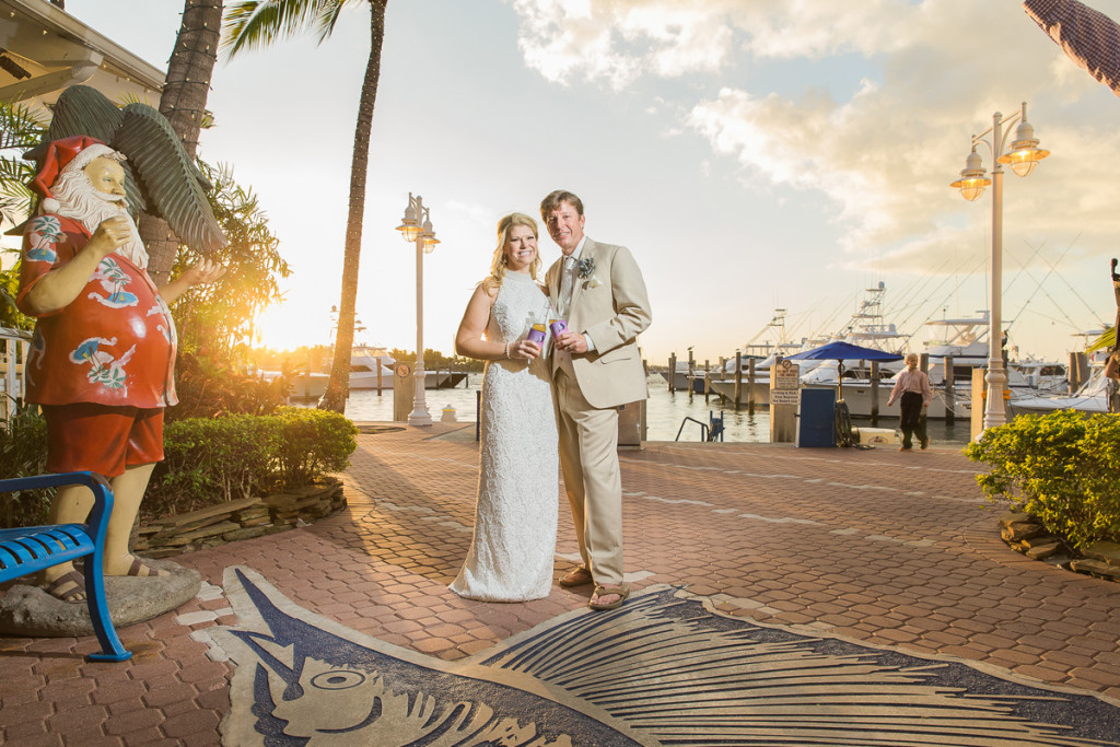 Sunset Bridal Portrait on the Dock | The Majestic Vision Wedding Planning | Sailfish Marina in Palm Beach, FL | www.themajesticvision.com | Chris Kruger Photography