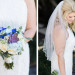 Elegant Bridal Bouquet with Succulents, Cream Roses and Blue Hydrangea at Sailfish Marina in Palm Beach, FL thumbnail