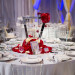 Elegant Geometric Mirror Centerpiece with Red Roses for Indian Wedding Reception at PGA National in Palm Beach, FL thumbnail