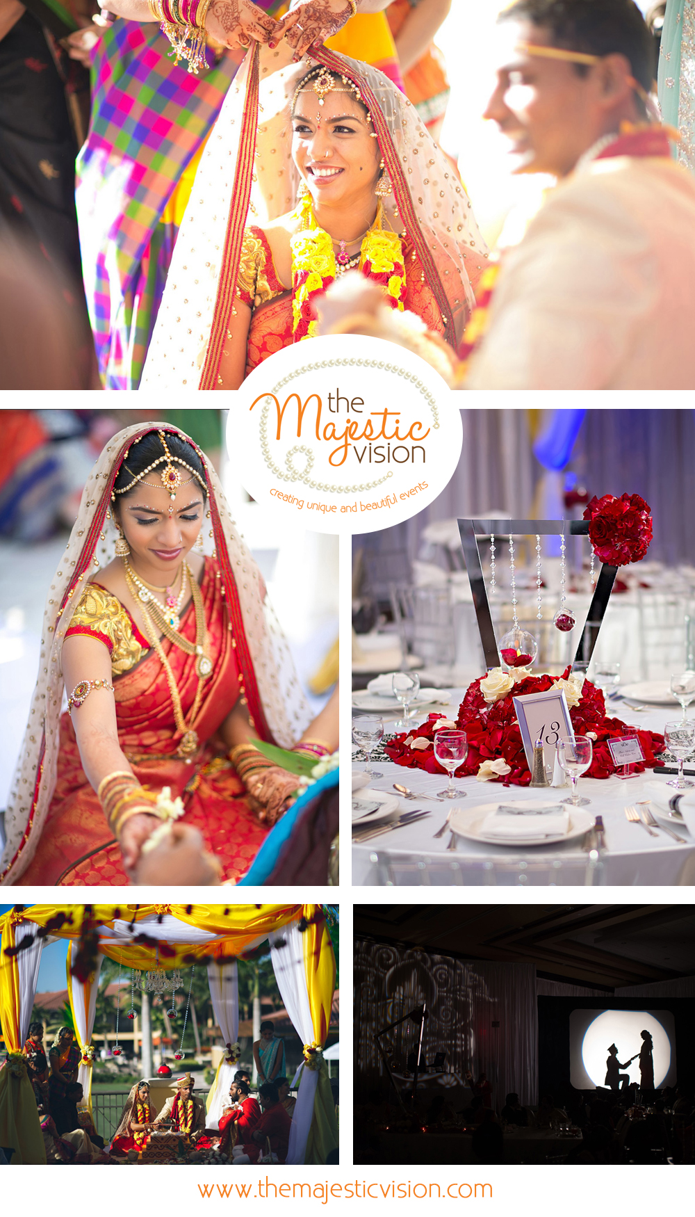 Elegant Indian Wedding | The Majestic Vision Wedding Planning | PGA National in Palm Beach, FL | www.themajesticvision.com | Haring Photography