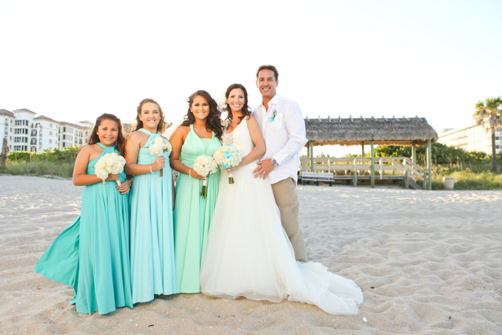 Elegant Ombre Bridal Party | The Majestic Vision Wedding Planning | Palm Beach Shores in Palm Beach, FL | www.themajesticvision.com | Krystal Zaskey Photography