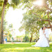 Elegant Bridal Portrait Under Banyan Tree at Palm Beach Shore in Palm Beach, FL thumbnail