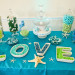 Whimsical Blue and Green Dessert Display at Palm Beach Shore in Palm Beach, FL thumbnail