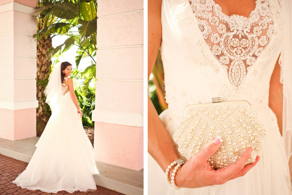 Beautiful Bride Wearing Elegant Enzoani Bridal Gown | The Majestic Vision Wedding Planning | Palm Beach Shores in Palm Beach, FL | www.themajesticvision.com | Krystal Zaskey Photography