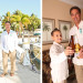 Handsome Groom Getting Ready with Ring Bearer at Palm Beach Shore in Palm Beach, FL thumbnail