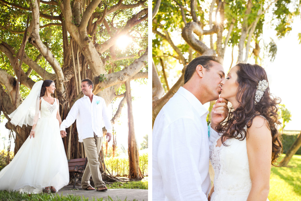 Elegant Bridal Portrait Under Banyan Tree | The Majestic Vision Wedding Planning | Palm Beach Shores in Palm Beach, FL | www.themajesticvision.com | Krystal Zaskey Photography