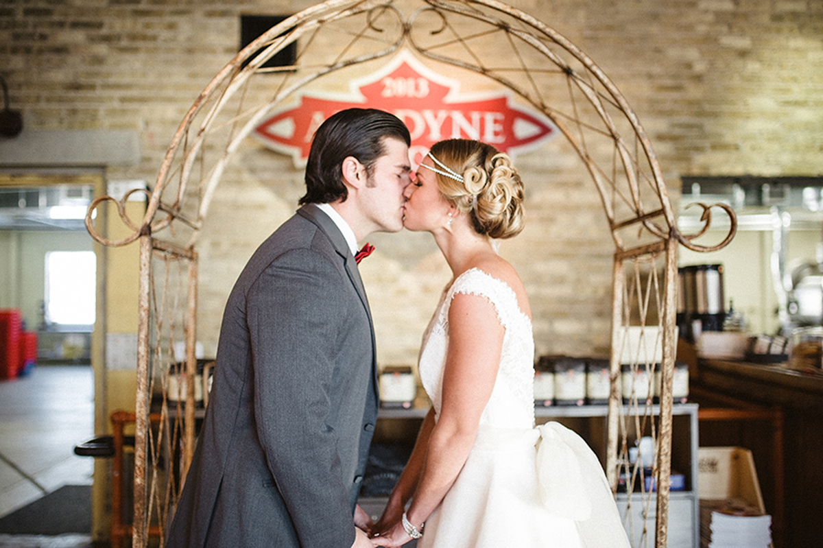 Elegant Coffee Shop Wedding Ceremony | The Majestic Vision Wedding Planning | Anodyne Coffee in Milwaukee, WI | www.themajesticvision.com | Elizabeth Haase Photography