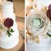 Elegant Marsala and White Wedding Cake at Anodyne Coffee in Milwaukee, WI thumbnail