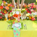 Elegant Lilly Pulitzer Inspired Wedding Tablescape with Orange, Yellow and Pink Flowers at The Colony Hotel in Palm Beach, FL thumbnail